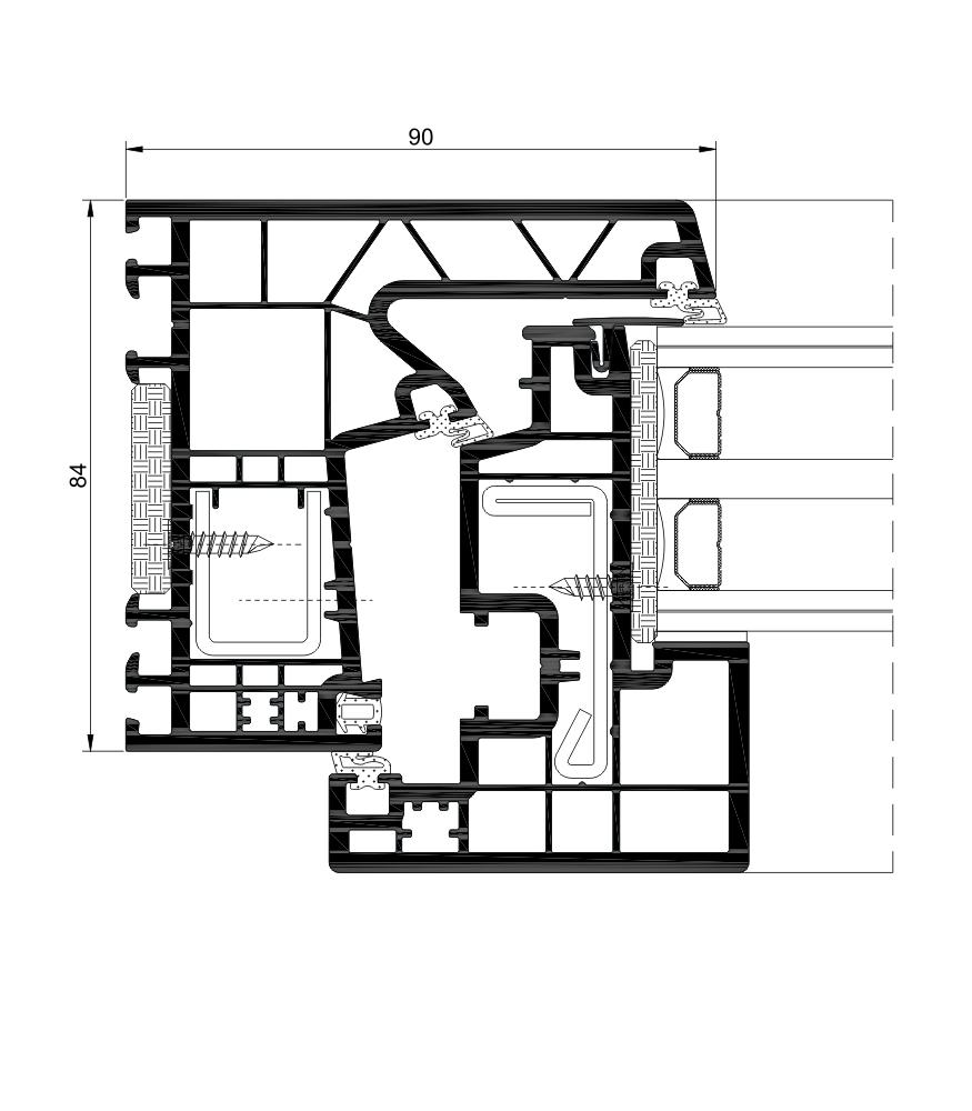 Descripccion tecnica seccion A84 HOJA OCULTA PASSIVHAUS